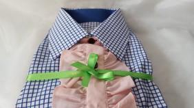 элегантный_розовый жабо_ блузка женскаяэлегантный_розовый жабо_ блузка женская