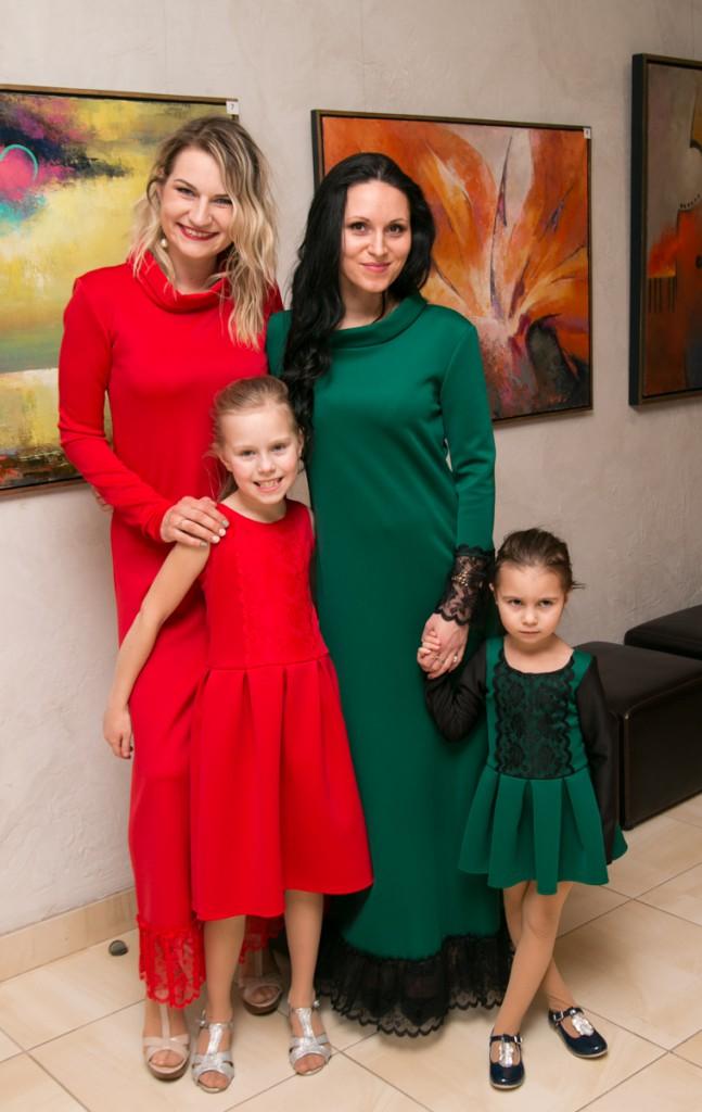 кружевные платья для матери и дочери betolli
