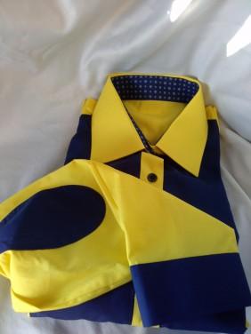 dzeltena ar zilu sieviešu blūze.betolli