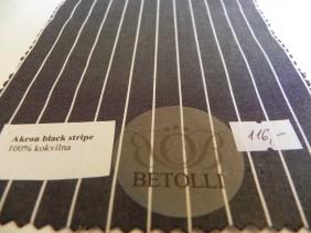 krekla audums-akron black stripe-betolii