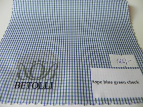 krekla audums-aspe blue green check-betolli