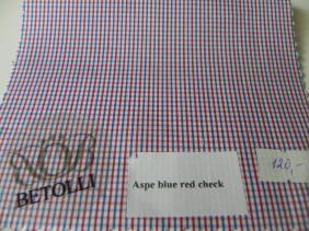 krekla audums-aspe blue red check-betolli