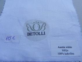 krekla audums-austin white-betolli