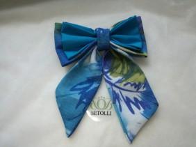 koši zils sieviešu tauriņš, piemērots aksesuārs rudenim, krasains, spo