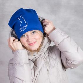 brodeerattu hattu suomalaisella ääriviivoilla Helsinki Betolli